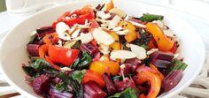 Sriracha Beet Greens & Mini Peppers Salad