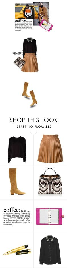 """Running errands..."" by matilda66 ❤ liked on Polyvore featuring T By Alexander Wang, RED Valentino, Yves Saint Laurent, Post-It, Fendi, Mulberry, Montegrappa and Equipment"