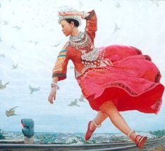 Wang Yiguang (Chinese: 王沂光) is a modern Chinese painter notable for his Tibetan paintings of flying people,yaks and sheep