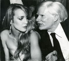 jerry hall and andy warhol at studio 1977 bianca jagger rides into studio 54 on horseback for her birthday, 1977 sayoko. Andy Warhol, Jerry Hall, Bianca Jagger, Mick Jagger, Studio 54 Fashion, Pop Art, Edie Sedgwick, Famous Faces, Halle
