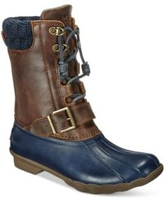 Take on chilly days in the Saltwater Misty boots by Sperry. These stylish boots will help keep you warm and dry without sacrificing fashion. | Leather upper; rubber sole | Imported | Round-toe duck bo
