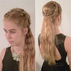 Game of thrones inspired hairstyle by @annethearcher