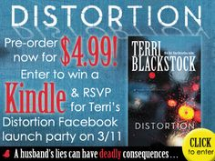 Distortion by Terri Blackstock Great Books To Read, Cool Books, New Books, Terri Blackstock, Todays Reading, Book Authors, Giveaway, Facebook Party, Launch Party