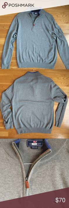🔥NWOT Vineyard Vines Quarter Zip Pullover🔥 This pull-over has been worn less than three times. It's in perfect condition with no tears or stains. Great for any occasion! Let me know if you have any questions! Vineyard Vines Sweaters Zip Up