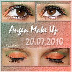 Orange and Green Eye Make Up - Datum: 20.07.10  http://talasia.blogspot.de/2010/08/amu-back-to-paradise.html