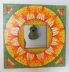 Orange and Yellow Sunflower Mirror by BeesCuriosityShoppe on Etsy, $65.00