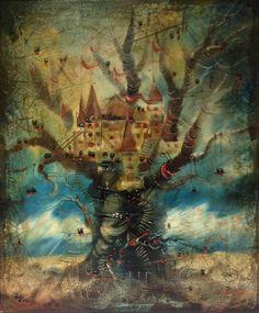 """Foret enchante"" oil on canvas  Larissa Mayorova"