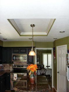 recessed fluorescent light box Interior Lighting, Lighting Ideas, Kitchen Lighting, Space Saving, Kitchen Remodel, Dining Room, Ceiling Lights, Interior Design, Box