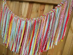 Items similar to Rag Tie Garland, Rag Fringe Garland, LONG Fabric Garland Tea Party Curious George Dr Seuss Shabby Chic Garland Farmhouse Wedding Photo Prop on Etsy Dr. Seuss, Shabby Chic Garland, Wedding Photo Props, Fabric Garland, Curious George, Tea Party, Etsy, Unique Jewelry, Handmade Gifts
