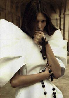Sacrilegious Photoshoots - Numero February 2010 Shows Fashion in Camilla Akrans 'Faith' (GALLERY)