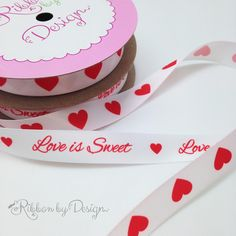Love is sweet ribbons for Valentine's Day!