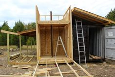 Shipping Container Cabin & Observatory: Building the Observatory Tower