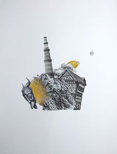 Lucy James soft machine 2013, collage on paper