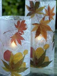 Thanksgiving Crafts Preschool Craft Candle Votive. these are beautiful. Kids know how to make the most beautiful things.
