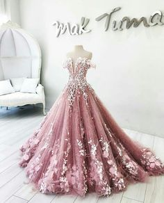 rosa Charming Prom Dress Off The Shoulder Prom Dresses 2018 Flora Appliques A Line Evening Gowns Formal Party Vestidos from flordabridal Prom Dresses 2018, Ball Gowns Prom, Prom Party Dresses, Ball Dresses, Dress Prom, Wedding Dress Pink, Pageant Gowns, Dresses Dresses, Long Dresses