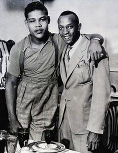 Jesse Owens US athlete and Joe Louis #Iconic