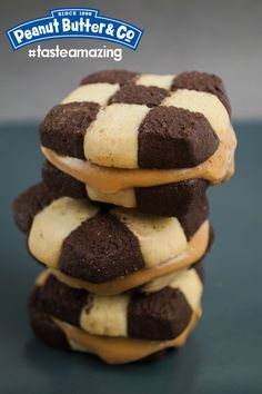 Checkerboard Cookie Peanut Butter Sandwiches #tasteamazing