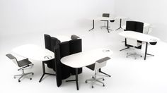 Kei Desks are fixed height pebble shaped office desks by Bulo. Create organic desk arrangments with Kei fixed height desks from Apres Furniture. Black Office Furniture, Conference Room, Desk, Table, Organic, Home Decor, Desktop, Decoration Home, Room Decor