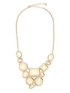 Ivory Gem Bib - Necklaces - All Jewelry $32