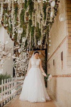 Country Wedding Discover Azazie Fairytale Wedding Look how beautiful our Azazie Bride Luisanna looks in the gorgeous Sedona Bridal gown and Charity Veil! Church Wedding Decorations, Garland Wedding, Wedding Church, Perfect Wedding Dress, Wedding Looks, Wedding Stuff, Floral Wedding, Wedding Flowers, Wedding Dresses