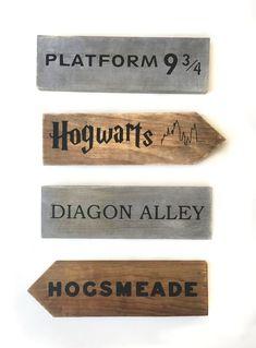 Harry Potter Inspired Fantasy Lands Signs and Arrows Fandom | Etsy