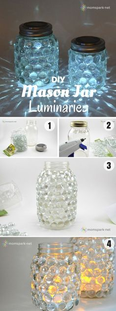 Check out how to make these easy DIY Mason Jar Luminaries @istandarddesign