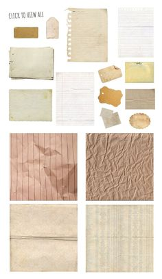 Paper Bits and Scraps Graphic Set Notebook Scrap Torn Lined Paper Texture Digital Background notebook paper wrinkled paper stained paper labels tags cards paper Bullet Journal Books, Bullet Journal Ideas Pages, Bullet Journal Inspiration, Paper Background, Textured Background, Vintage Sticker, Ed Wallpaper, Wrinkled Paper, Bullet Journal Aesthetic