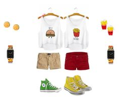 """Burger And Fries"" by mysticwishes ❤ liked on Polyvore"