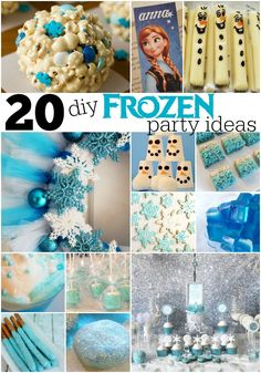 Create your own winter wonderland with these 20 DIY Frozen Party Ideas.