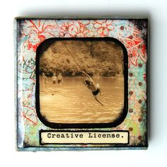 Creative License  3x3 Tile Magnet by BiscottiDesigns on Etsy, $10.00
