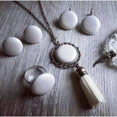 Angyali fehér szett Pearl Earrings, Pearls, Jewelry, Pearl Studs, Jewlery, Bijoux, Bead Earrings, Beads, Schmuck