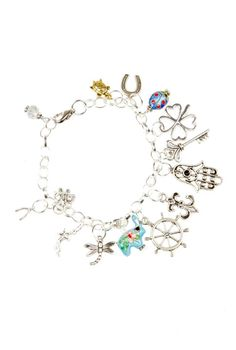 charm bracelet with charms of our memories