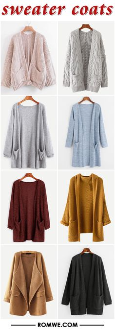 winter warm & cozy sweater coats from romwe.com