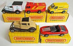 5 Different LESNEY MATCHBOX Superfast Yellow BOXED 38, 14, 54, 57, 73; Mint - http://www.matchbox-lesney.com/37174