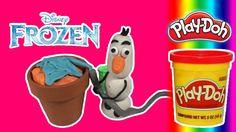 Disney Frozen Olaf Toy Doll  Play doh clay stop motion 디즈니 겨울왕국 ディズニー冬の王...