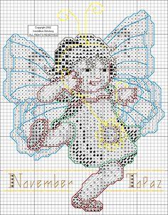 Toddler Birthstone Fairy November Topaz Cross Stitch Pattern 2/5