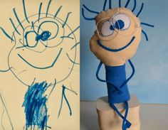This lady takes children's drawings and makes them into toys