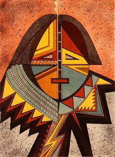 Helen Hardin - Listening Woman, 1982 Collection of Cradoc Bagshaw kK Native American Paintings, Native American Artists, Native American History, Southwestern Art, Southwestern Decorating, Indian Arts And Crafts, Mask Painting, Bubble Art, American Indian Art