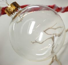 Love this idea - baby first haircut ornament. You could do this with tons of special things