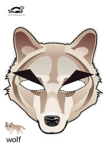 FREE DIY PDF printable print and cut mask wolf, Twilight, little red riding… Halloween Cosplay, Halloween Masks, Halloween Fun, Little Pigs, Little Red, Printable Masks, Printables, Pig Mask, Monkey Mask