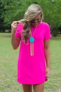 Lavish Boutique  - It's A Date Dress: Hot Pink, $38.95 (http://lavishboutique.com/its-a-date-dress-hot-pink/)
