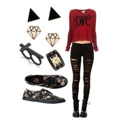 Thought this outfit is comfortable, stylish, and a mix of goth and punk but still girly!