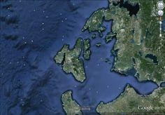 Google Earth image of Ithaka and its surroundings
