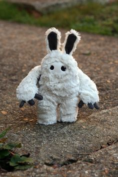 Bunny Sasquatch Monster Plush - by HollowShells