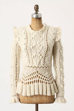 perhaps someday you will go on sale and be mine ;) Bobbled Cableknit Sweater style