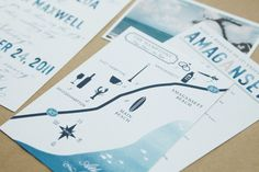 we need a little map insert like this for guests walking from the ceremony to the reception