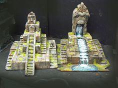 Lizardman Temples and watr fall