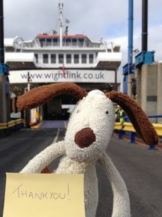 @Teddy Madison Bear Cuddly Toy Lost and Found Thank you for helping us find this little chaps owner! 'Dog' & Jacob will be reunited later! wightlinkferry