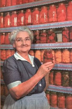 When the shelves are full of the harvest,,,only then, can one understand the sparkle in her eyes.