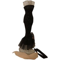 Black Gloves, Bugle Beads, Vintage Barbie Dolls, Chiffon Scarf, Barbie Dress, Ankle Length, Statues, Red Roses, Spotlight